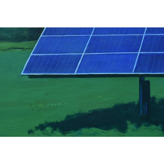 """Contemporary 2010s Contemporary Painting, """"Solar Panel in a Field"""" by Stephen Remick For Sale - Image 3 of 12"""