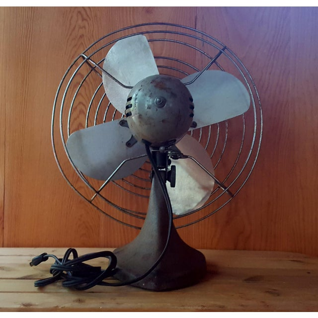 Vintage Manning Bowman Industrial Fan For Sale - Image 6 of 8