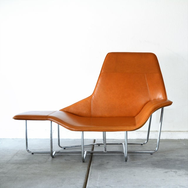"""This Modern Chaise Lounge Chair by Mark David Designs is in the style of Ludovica + Roberto Palomba """"Lama"""" Lounge Chair..."""