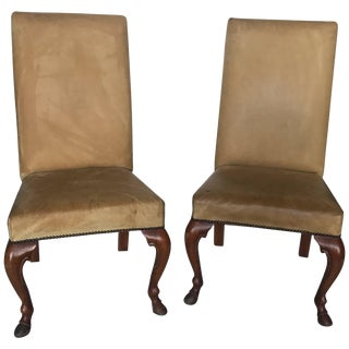 Pair of Ralph Lauren Chairs in Leather, Labelled For Sale