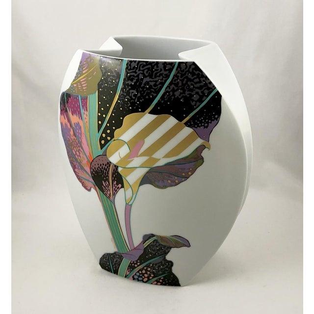 Rosenthal Porcelain Brigitte Doege Calla Lily Vase For Sale - Image 10 of 10