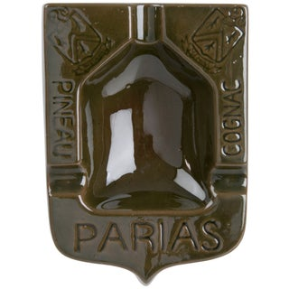 French Parias Glazed Terra Cotta Ashtray