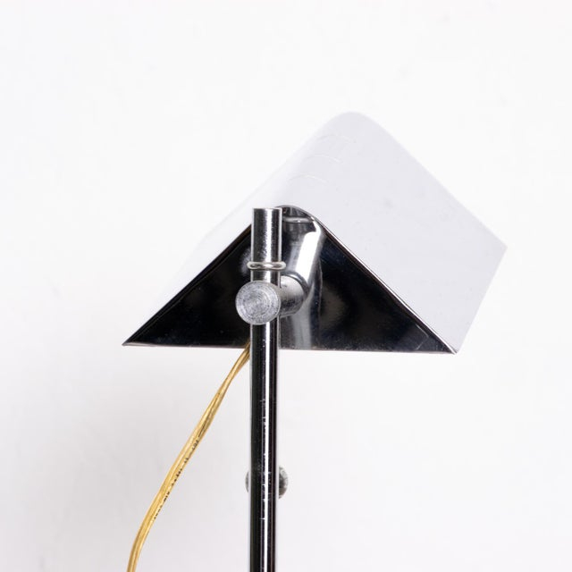 Mid-Century Modern Chrome Reading Floor Lamp After Koch Lowy For Sale In San Diego - Image 6 of 10
