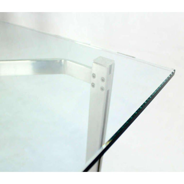 Mid-Century Modern Solid Chrome and Glass-Top Coffee Table by Kjaerholm For Sale In New York - Image 6 of 6