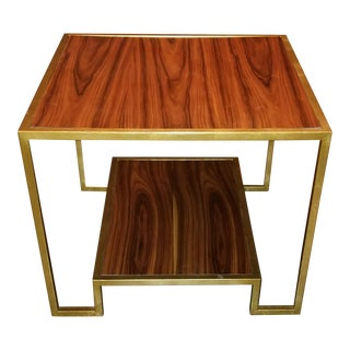 Modern History Metal & Rosewood End Table