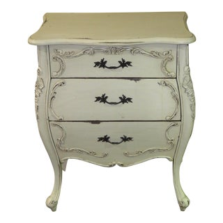 1980s Cottage Chic Bombe Accent Chest For Sale