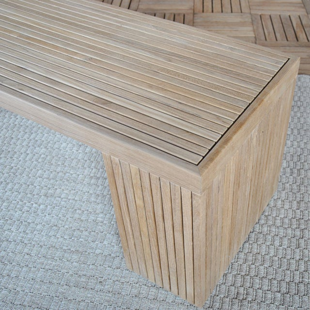 "Niagara Teak Liner Bench Stool - 59"" For Sale - Image 4 of 8"