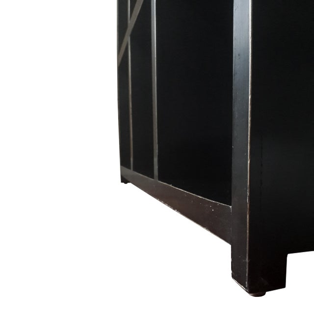 Asian Modern Four Hands Black Lacquered Elm Bookcase For Sale In New York - Image 6 of 11