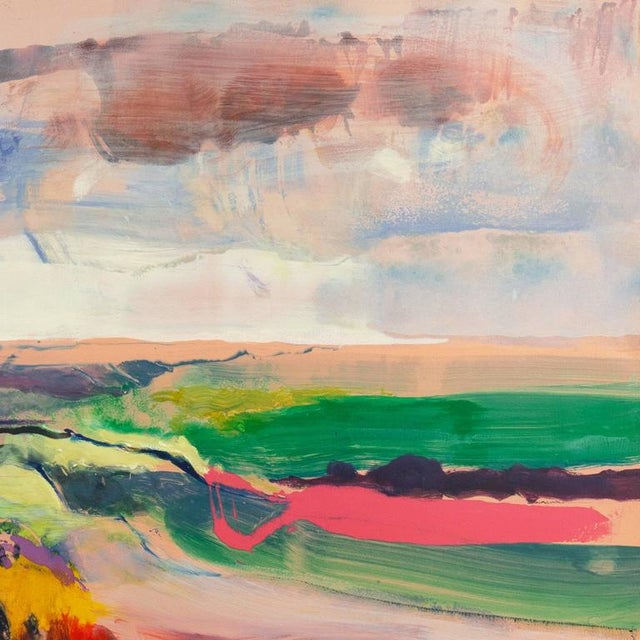 Impressionism John Maxon Evening Landscape Circa 1985 For Sale - Image 3 of 9