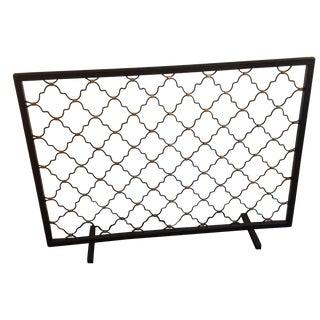Patterned Fireplace Screen