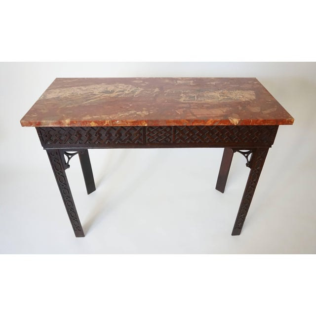 Irish Chippendale Carved Mahogany Side Table Circa 1760 Chairish
