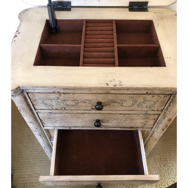 Metal Painted Lingerie/Jewelry Chest For Sale - Image 7 of 9