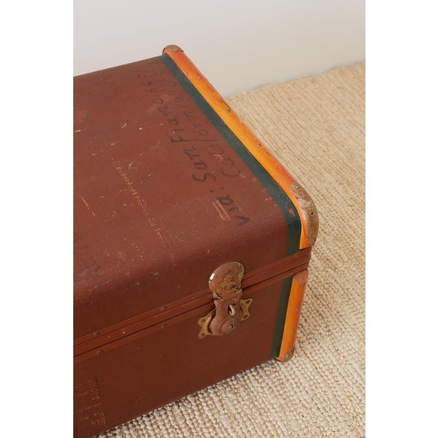 Early 20th Century Painted Steamer Travel Trunk For Sale In San Francisco - Image 6 of 13