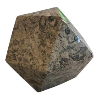 Vintage Geometric Granite Paper Weight For Sale