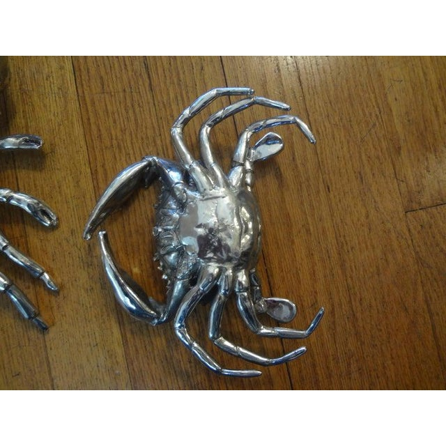 Silver Vintage Italian Silver Plated Lobster and Crab For Sale - Image 8 of 13
