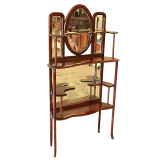 19th Century Victorian Mahogany Mirrored Etagere