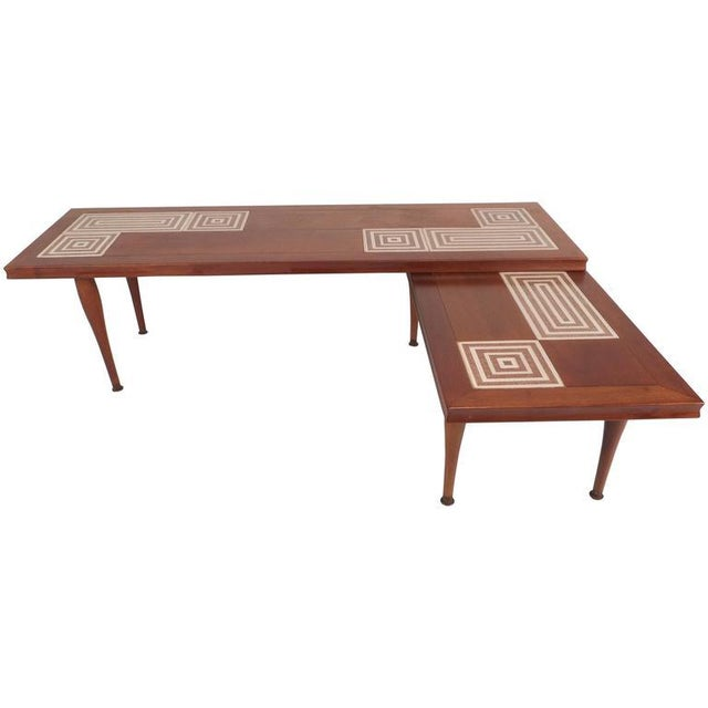 Mid-Century Modern Mid-Century Modern Tile-Tip Pivot Coffee Table For Sale - Image 3 of 11