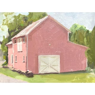 Pink Barn Upstate - Original Oil Painting by Caitlin Winner For Sale