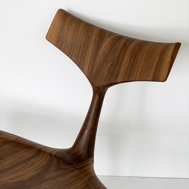 "Sculptural Walnut ""Whale"" Chair Morten Stenbaek For Sale - Image 12 of 13"