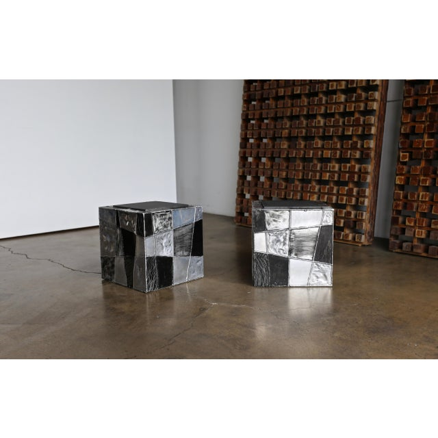"1960s Paul Evans ""Argente"" Cube Side Tables For Sale - Image 5 of 13"