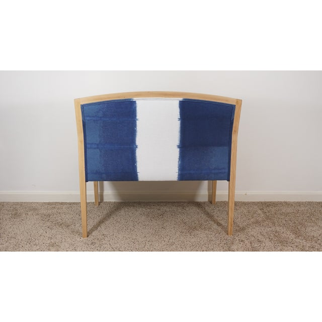 Hand Dyed Indigo Settee For Sale - Image 5 of 7
