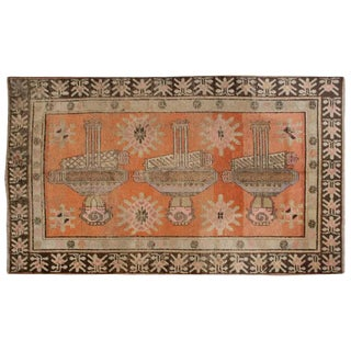 Early 20th Century Pictorial Khotan Rug - 4′4″ × 7′4″ For Sale