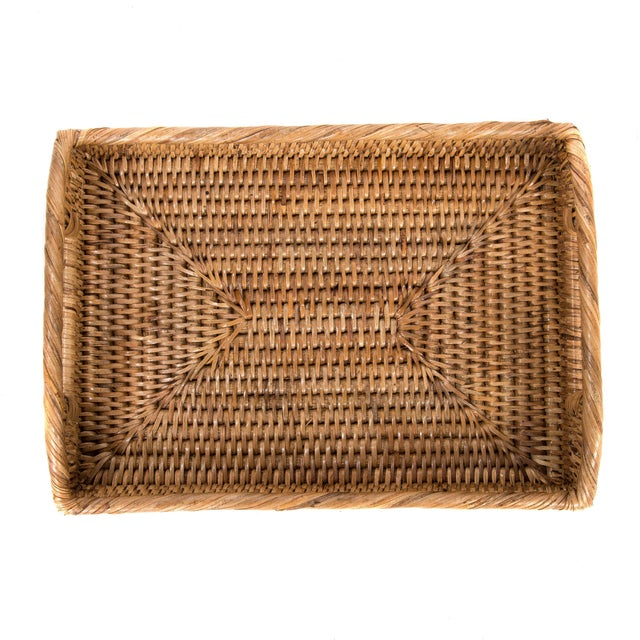 Artifacts Rattan Rectangular Tray For Sale - Image 4 of 5
