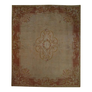 "Antique Hand Woven Savonnerie Rug - 16'2"" X 19'1"" -- 108284 For Sale"