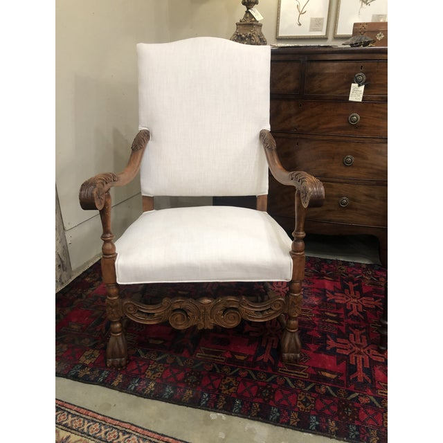 Late 19th Century Antique French Arm Chair For Sale In Birmingham - Image 6 of 6