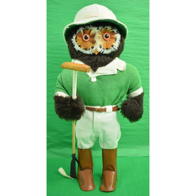 "Abercrombie & Fitch London Owl Polo Player replete with wooden mallet from the 1960s. Dimensions: 1.0""W x 1.0""D x 17.0""H"