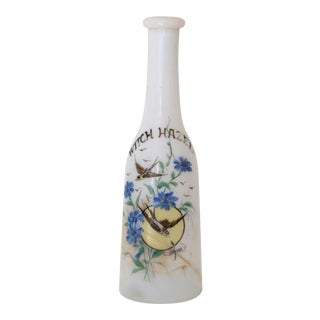 Vintage Milk Glass Apothecary Bottle For Sale