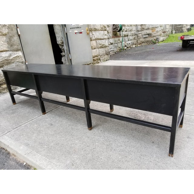 Wood Vintage America of Martinsville Painted Hollywood Regency Style Console For Sale - Image 7 of 11