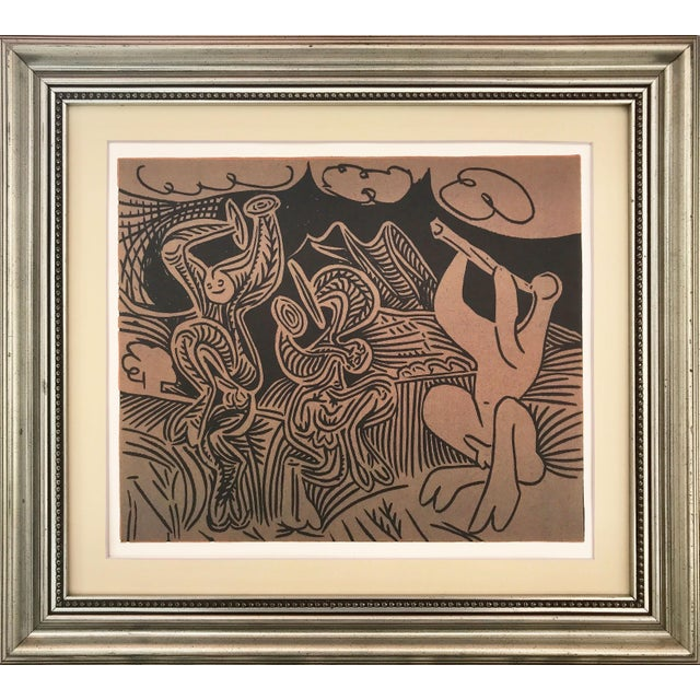 "Vintage Picasso Linocut ""Danseurs Et Musicien"" For Sale In New York - Image 6 of 6"