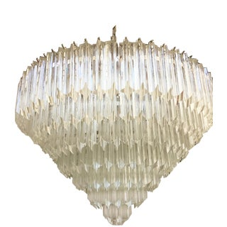Quadriedo Cut Murano Glass Sputnik Chandelier