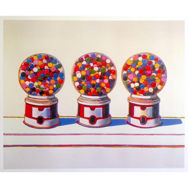 "Wayne Thiebaud Lithograph Print Pop Art Museum Poster "" Three Machines "" 1963 For Sale - Image 11 of 12"