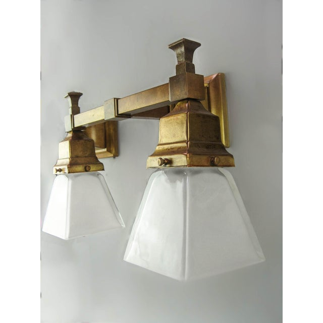 Incredible Arts & Crafts Mission Wall Sconce (Double) | DECASO