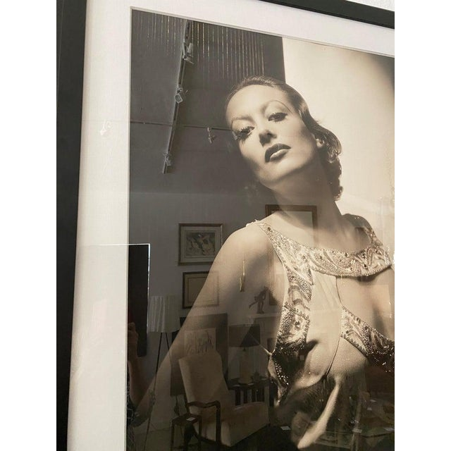 Black Vintage 2000 George Hurrell Joan Crawford Digital Photograph From 1932 Restored Negative For Sale - Image 8 of 13