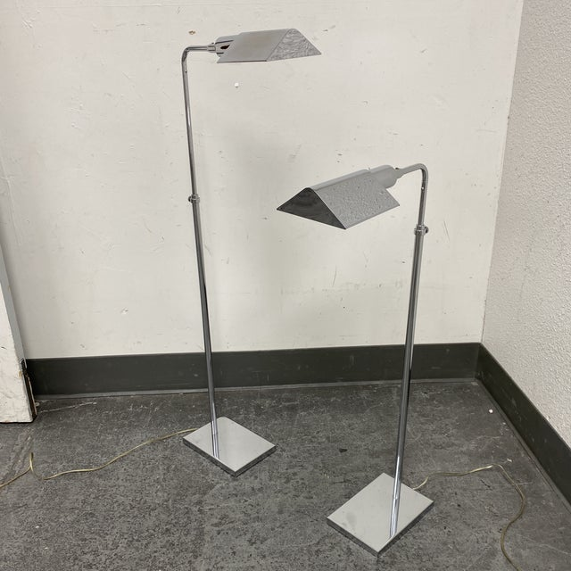 Late 20th Century Koch and Lowy Pharmacy Hartman Style Floor Lamps - a Pair For Sale - Image 9 of 9