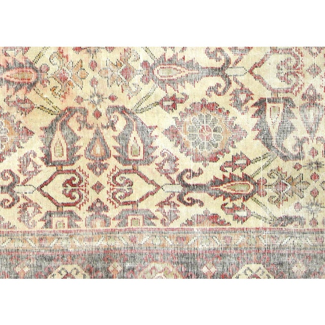 1930s Antique Persian Mahal Carpet. Hand woven in the Mahal region of Iran. Distressed and refinished in the U.S. These...
