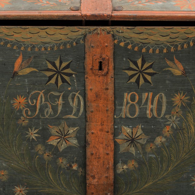 Gustavian (Swedish) Antique Swedish Wedding Chest For Sale - Image 3 of 8