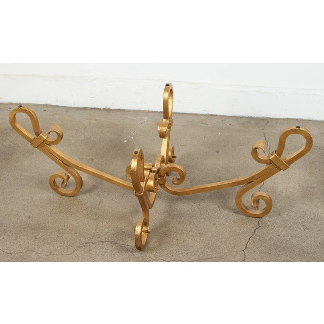 Gold Hollywood Regency 1970s Brass Tray Table by Baker For Sale - Image 8 of 10
