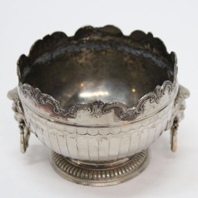 Traditional 1940's Corbell & Co. Silver-Plate Monteith Bowl For Sale - Image 3 of 5