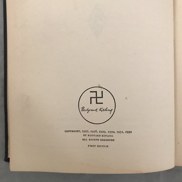 """Contemporary 1932 """"Limits and Renewals"""" First Edition Rudyard Kipling Book For Sale - Image 3 of 6"""