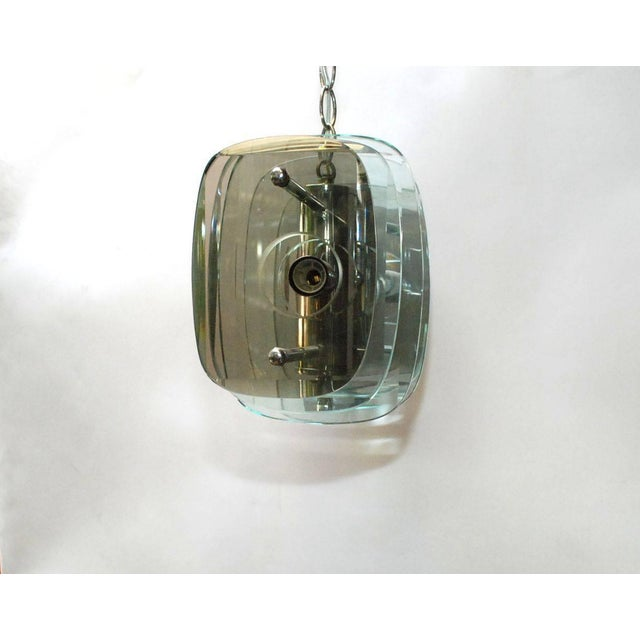 Chrome Accordion Pendant For Sale - Image 7 of 10