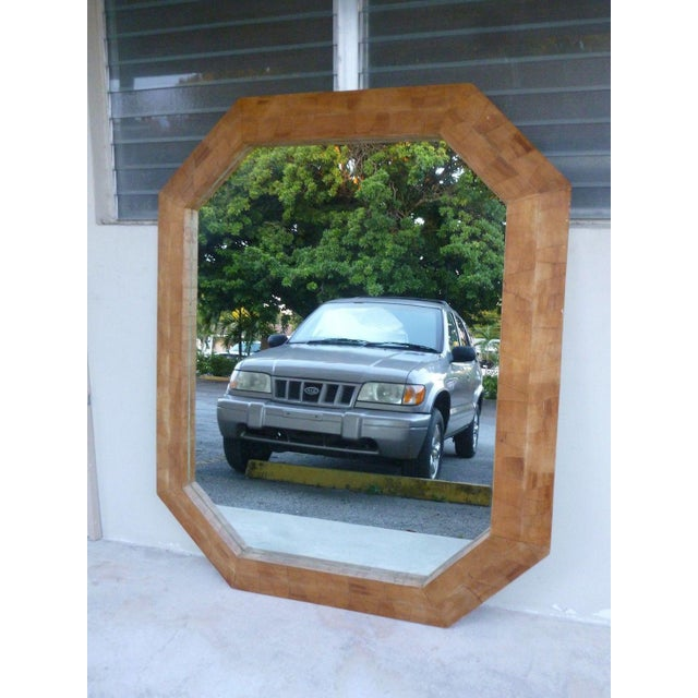 1970s Modern Octagonal Mirror For Sale In Miami - Image 6 of 6