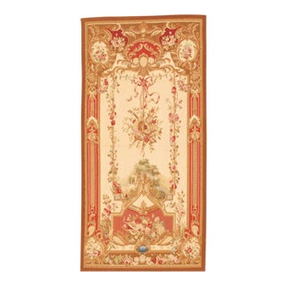 "Pasargad Tapestry Silk & Wool Rug - 3'6"" X 7' For Sale"
