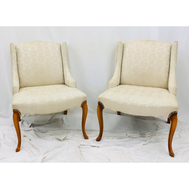 Pair Vintage French Style Side Chairs For Sale - Image 12 of 12
