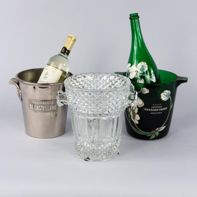 French Cut Crystal Champagne Bucket, 20th Century - Image 2 of 11