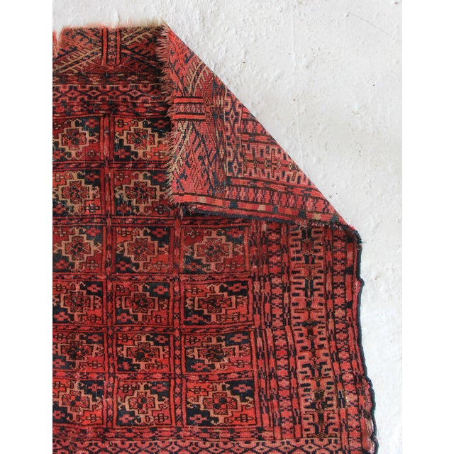 Vintage Red Square Rug - 3′ × 3′1″ - Image 3 of 6