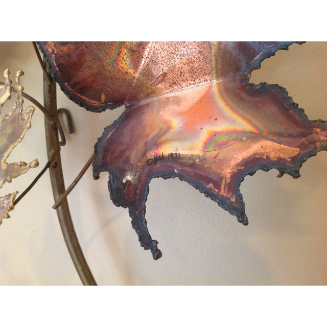 C Jere Brass Autumn Leaves Wall Sculpture, 1971 - Image 6 of 6